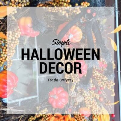 Simple Halloween Decor for the Entryway